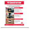 CPR/AED Instructional Poster - Save Station
