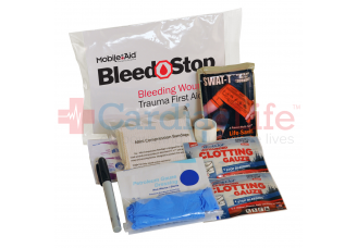 Bleedstop Single 100 Compact Bleeding Wound Trauma First Aid Kit