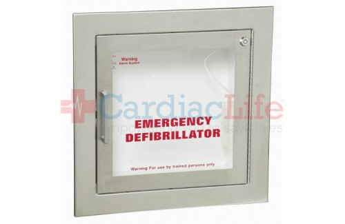 Fully Recessed Stainless Steel AED Cabinet