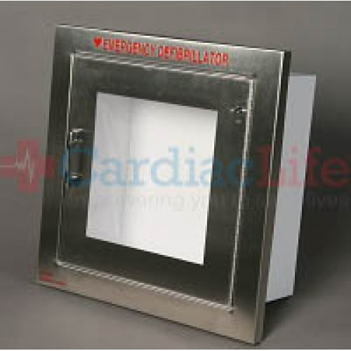 Cool Shirt Systems >> Alarmed AED Wall Cabinet Stainless Steel | Cardiac Life