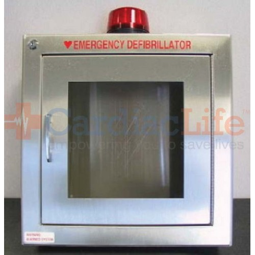 Cool Shirt Systems >> Alarmed with Strobe AED Wall Cabinet Stainless Steel ...