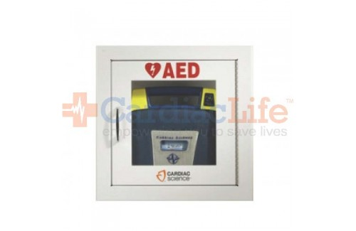 Cardiac Science Fully Recessed Wall Cabinet with Alarm and Strobe