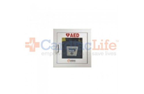 Cardiac Science AED Wall Cabinet Semi-Recessed with Alarm and Strobe