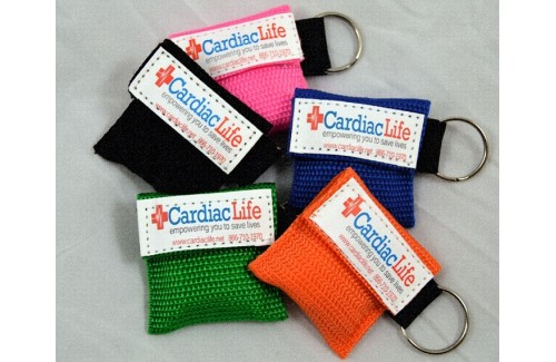 Cardiac Life Rescue Keychain Face Shield