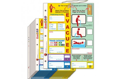 Evac123® Patient Evacuation Tag - HICS/NHICS Compliant Patient Accountability