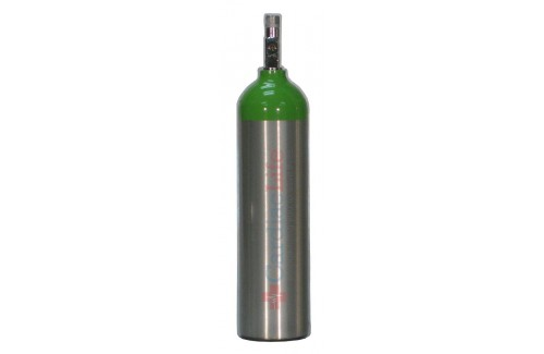 LIFE Corporation EMS Oxygen Cylinder (with valve, without gauge, empty)  LIFE-EMS-D