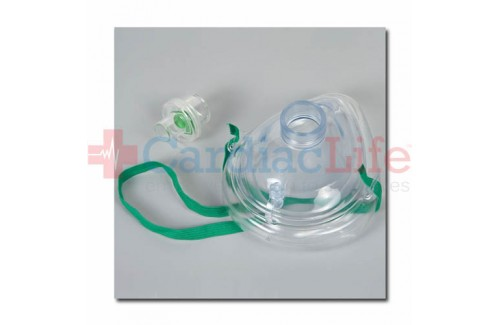 Adult CPR Mask w/One-Way Valve in Plastic Bag