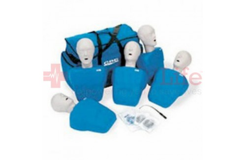 CPR Prompt Adult/Child Manikins 5-Pack BLUE w/ Carry Bag