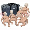 CPR Prompt Infant Manikins 5-Pack TAN w/ Carry Bag