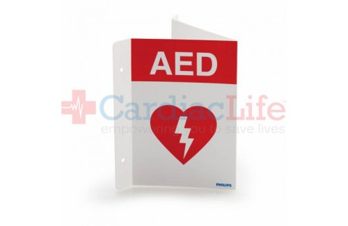 Philips Flexible AED Wall Sign