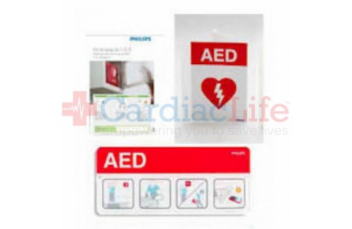 Philips HeartStart AED Awareness Sign Bundle