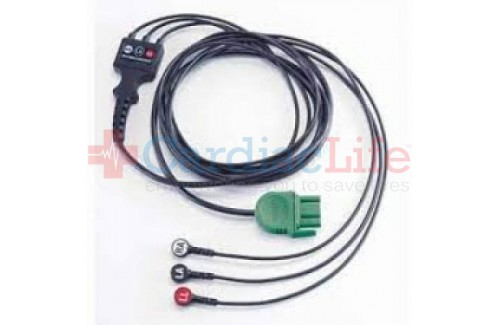 Physio-Control LIFEPAK 1000 ECG/EKG Monitoring Cable, 3-wire (Lead II)