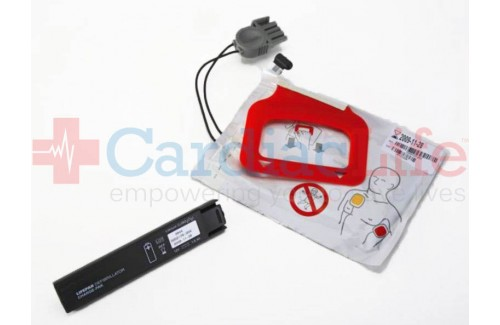 Physio-Control LIFEPAK CR Plus/Express AED CHARGE-PAK  with 1 Set of Adult Electrodes