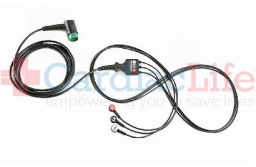 Physio-Control  5-wire ECG Cable for LIFEPAK 12, LIFEPAK 15, LIFEPAK 20
