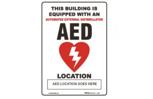 "AED Stand Out Sign  - 8.5"" x 13"""