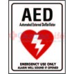 "AED Location Sign 9"" x 12"""