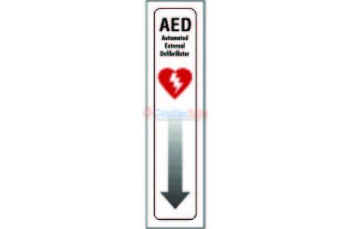 "AED Location Sign 4"" x 18"""