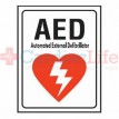 "AED Location Sign 7"" x 10"""