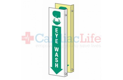 "First Aid Eye Wash Location Safety Sign-4""x18"""