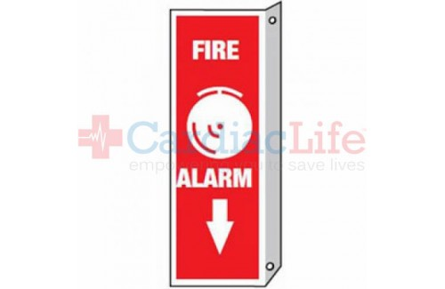 Fire Alarm Sign 2 Sided  4x12