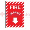 Fire Blanket Sign 9x12