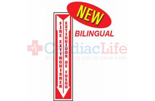 Fire Extinguisher Location Sign - Bilingual