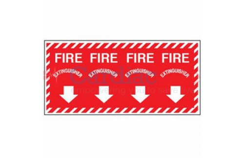 Fire Extinguisher Wrap-Around Sign