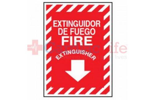 Fire Extinguisher Sign 9x12 - Bilingual