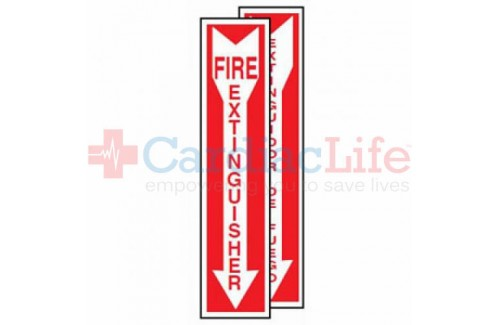 Fire Extinguisher Location Sign (4x18)