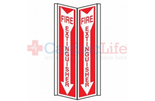 Fire Extinguisher Tent Sign