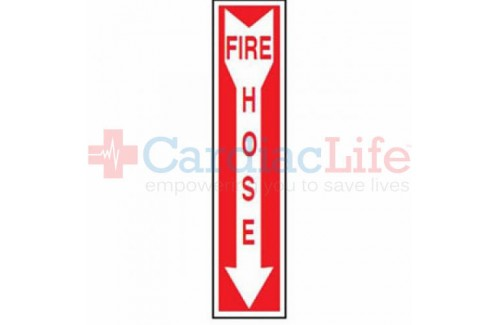 "Fire Hose Location  Vinyl Sign 4"" x 18"""