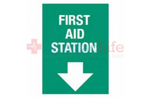 "First Aid Station Vinyl Sign 10""x14"""