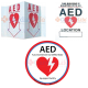 AED Static cling sign and AED LOCATION Standout Sign