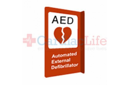 "AED Sign Projecting Aluminum 10"" x 14"""
