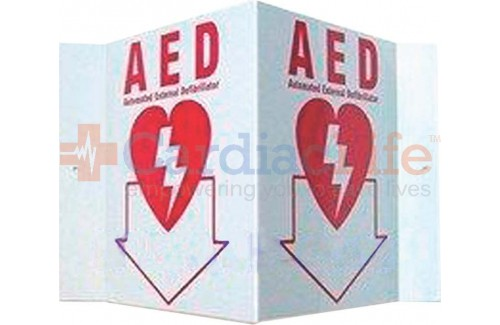 "3D Plastic AED Tent Sign - 6"" x 5"""
