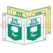 Glow-in-the-Dark Compact Eye Wash Tent Sign