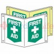 "Glow-in-the-Dark Compact First Aid Tent Sign-7""x10"""