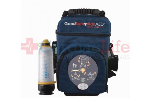 HeartSine samaritan PAD 450P AED and LIFESAVER Water Bottle Hiking Package
