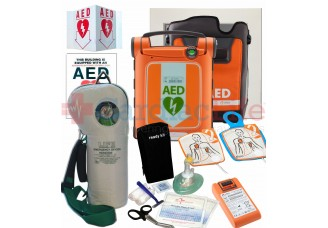 Cardiac Science Powerheart G5 AED Life Corporation Emergency Oxygen Value Package