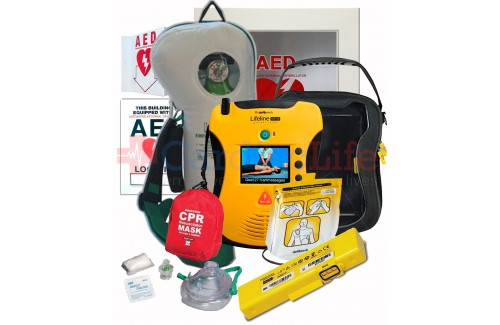 Defibtech Lifeline VIEW AED Life Corporation Emergency Oxygen Value Package