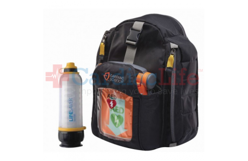 Cardiac Science Powerheart G5 AED and LIFESAVER Water Bottle Hiking Package