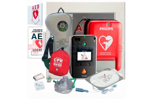 Life Corporation Emergency Oxygen Value Package with Philips Heartstart FR3 AED