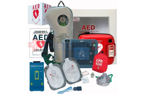 Life Corporation Emergency Oxygen Value Package with Philips Heartstart FR AED