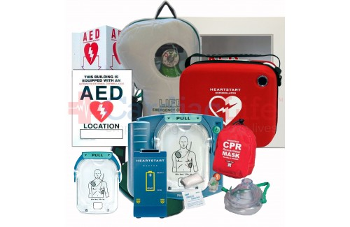 Life Corporation Emergency Oxygen Value Package with Philips Heartstart Onsite AED