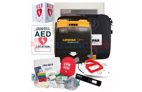 Physio-Control LIFEPAK CR Plus AED Stadium and Arena Value Package