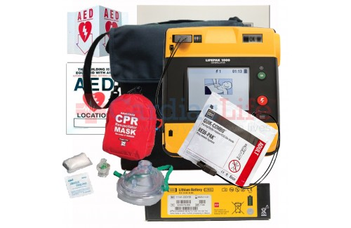 Physio-Control LIFEPAK 1000 AED Value Package with Heated Carry Case