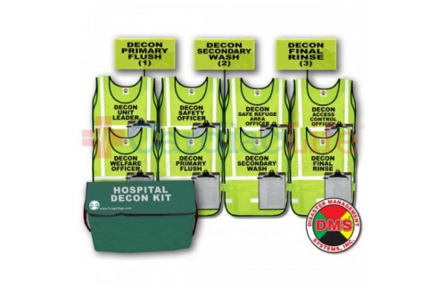 DMS-05041 Hospital Decon Vest & Flag Kit