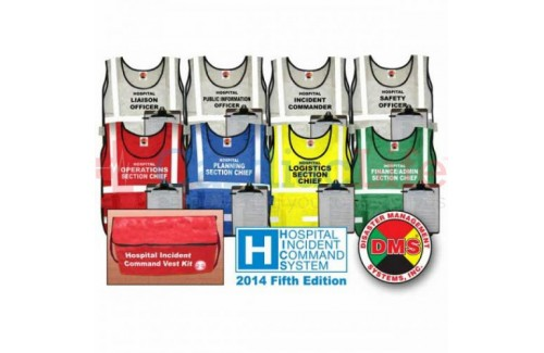 DMS-05371 HICS 2014 Command Vest Kit - 8 Positions for Small Hospitals