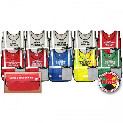 Clinic Command Vest Kit For Small Facility Cardiac Life