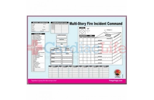 DMS-05563 Multi-Story Structure Incident Command Worksheet Pad